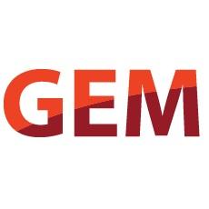The logo for GEM. Text: GEM